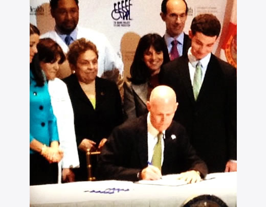 David Goldstein's speech at the Bill Signing